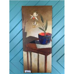 Lot of 2 tall painting