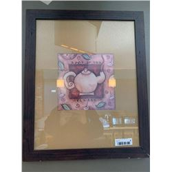 Framed tea pot picture