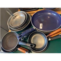 Lot of 14 commerical chef fry pans