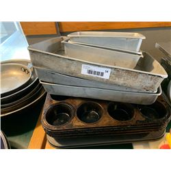 Lot of 10 assorted bakers and muffin trays