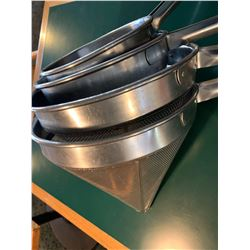 Set of 4 Commercial cone strainers