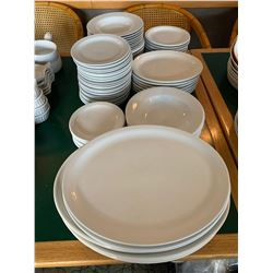 Lot of assorted restaurant service plates