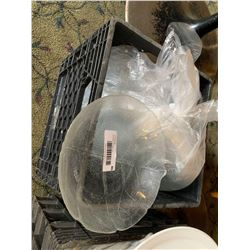 Crate Lot of Clear Salad service bowls