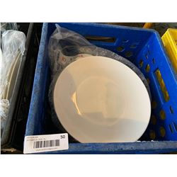 Crate Lot of White Restaurant Plates