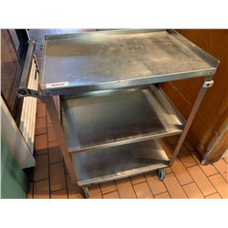 Rolling SS 3 Tier Service Cart