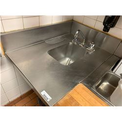Stainless Hand Wash Sink and counter -THE BUYER IS RESPONSIBLE FOR DISCONNECTION AND REMOVAL - BUYER