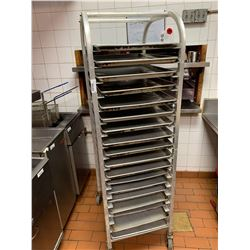 Aluminum rolling Bakers rack with trays
