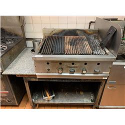 Vulcan 36 inch gas char broiler with stand -THE BUYER IS RESPONSIBLE FOR DISCONNECTION AND REMOVAL -