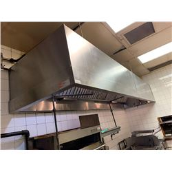 Stainless Steel 14 ft commercial range hood includes fire suppression system , does not include anyt