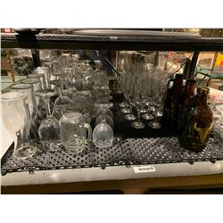 Lot of assorted bar glassware