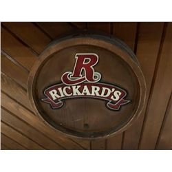 Rickards Red Barrel Style beer sign