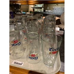 Lot of approx 20 coors beer glasses