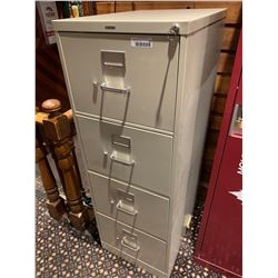 4 dr legal file cabinet with key