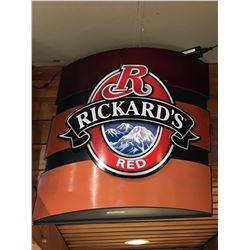 Bar Mounted Sign BUYER MUST REMOVE -Rickards Red