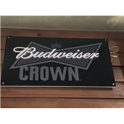 Bar Mounted Sign BUYER MUST REMOVE -Budweiser Crown