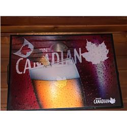 Bar Mounted Sign BUYER MUST REMOVE -Canadian