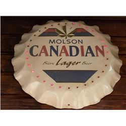 Bar Mounted Sign BUYER MUST REMOVE -Molson Bottle Cap