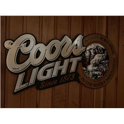 Bar Mounted Sign BUYER MUST REMOVE -Coors Light