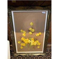 Framed oil on Canvas floral picture
