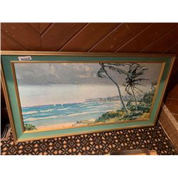 Framed Ocean Palm Picture