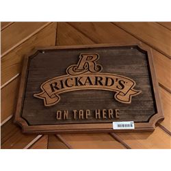 Rickards Red Beer Sign