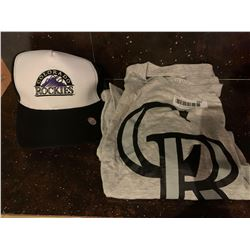 MLB Shirt and Hat Set -Rockies