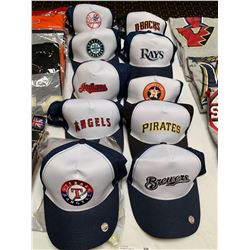 Lot of 10 MLB assorted team hats