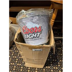 Case lot of coors light beer buckets
