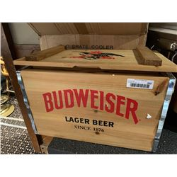 NEW Budweiser Wood Crate Cooler