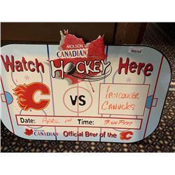 Molson Canadian Hockey Dry Erase Board