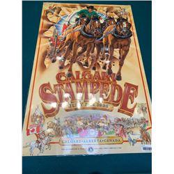 Calgary Stampede Poster laminated -1996