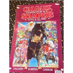 Calgary Stampede Poster laminated -1990