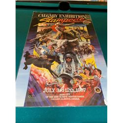 Calgary Stampede Poster laminated -1987