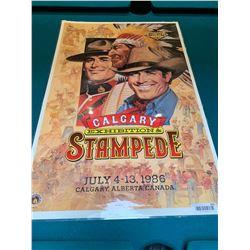 Calgary Stampede Poster laminated -1986