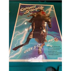 Calgary Stampede Poster laminated -1981