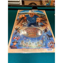 Calgary Stampede Poster laminated -1998