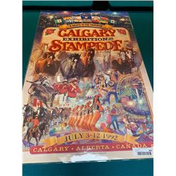 Calgary Stampede Poster laminated -1992