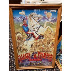 Framed Calgary Stampede Poster -1993
