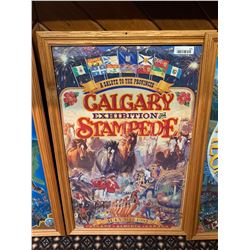 Framed Calgary Stampede Poster -1992