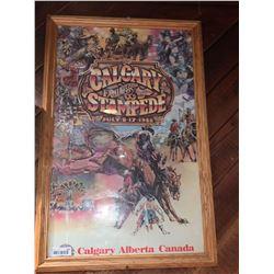 Framed Calgary Stampede Poster - 1988