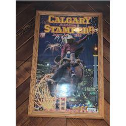 Framed Calgary Stampede Poster- 1989
