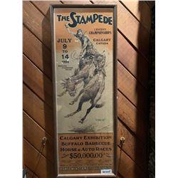Framed Vintage & Rare Calgary Stampede Poster - 1923