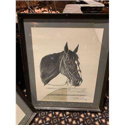Framed Limited Edition Western Sketch - Horse