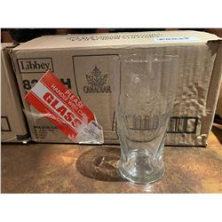 Case of 12 - Molson Canadian Beer Glasses