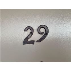 Motel Guest Room number: 29 includes as pictured: armoire dresser, desk with chair, luggage bench, W