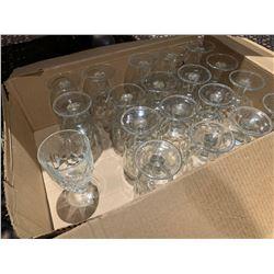Case lot of wine glasses