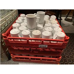 Lot of 3 trays of coffee cups