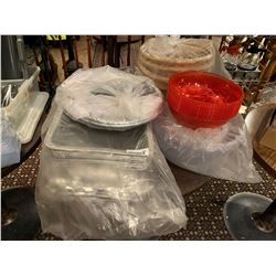 Lot of plastic and aluminum containers