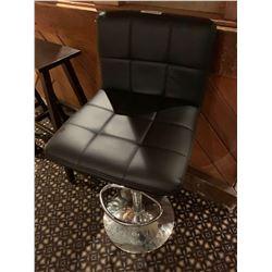 Black Vinyl Adjustable stool