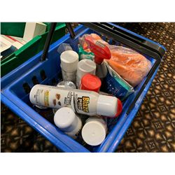 Lot of assorted cleaning sanitizing supplies